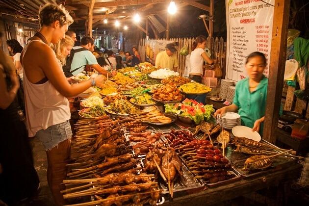 night market - laos tours