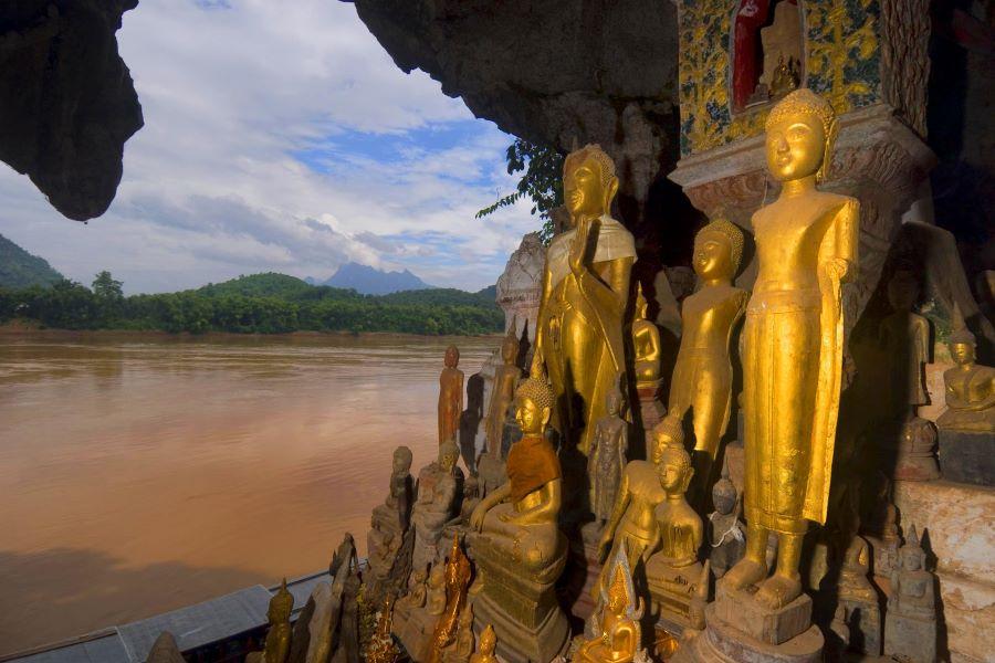 pak ou caves in laos