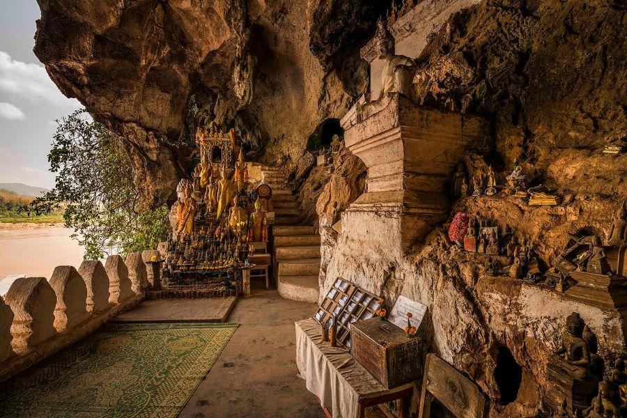 pak ou caves in luang prabang laos