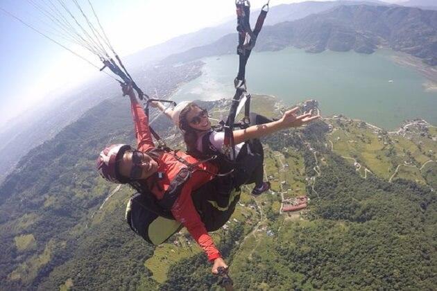 paragliding - nepal tours