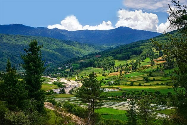 paro valley - top place to visit in bhutan
