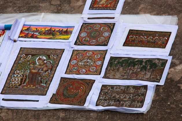 sandpainting - myanmar souvenir items