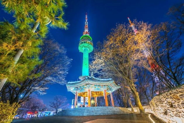 seoul tower in south korea