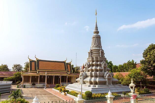 silver pagoda - vietnam laos cambodia travel