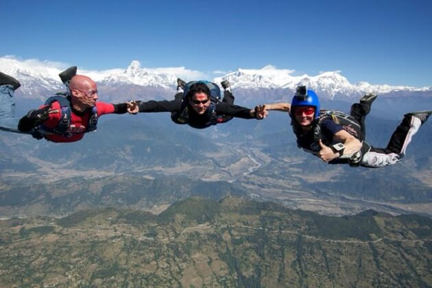 sky diving - nepal tour packages