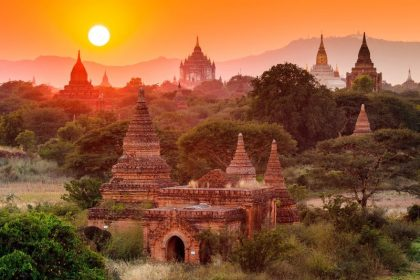 sunset in myanmar asian vacation packages