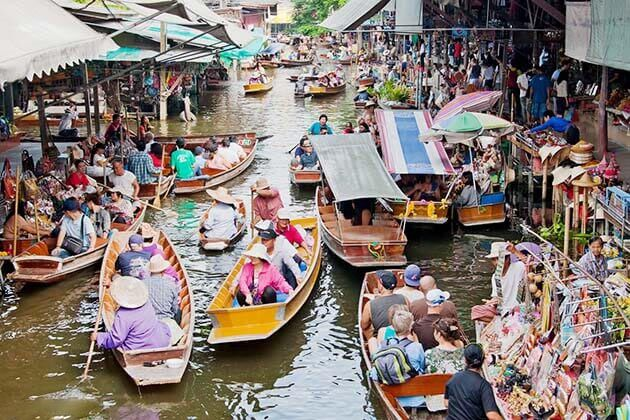 thailand tour itinerary - floating market