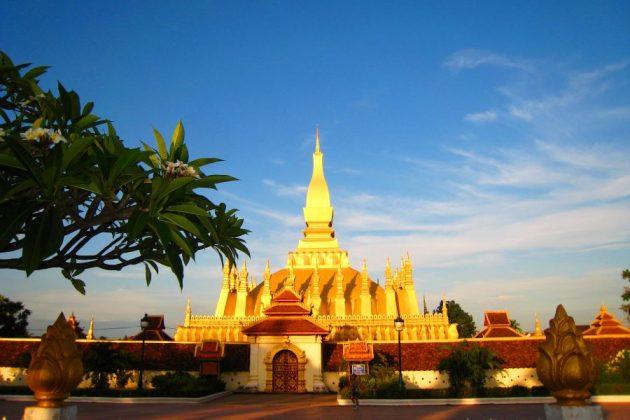 that luang stupa in laos