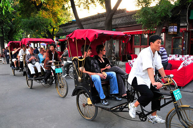 traditional rickshaw china