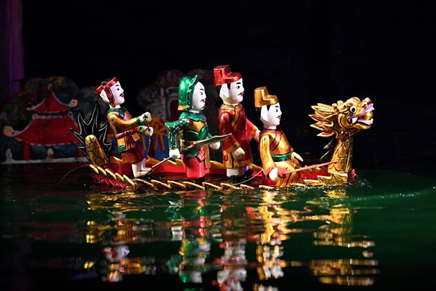 water puppets - vietnam 10 day itinerary